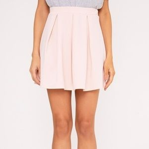 PrettyLittleThing Rosabela Blush Skater Skirt